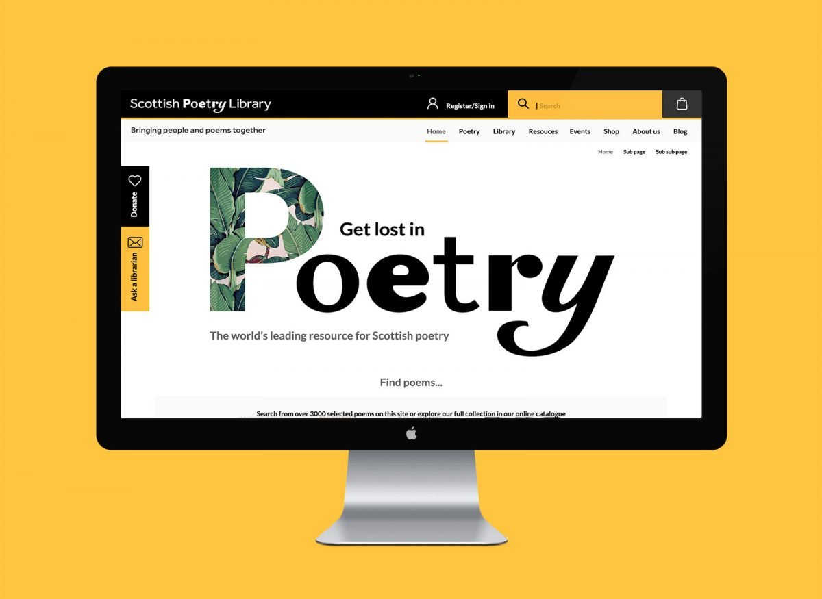 Scottish Poetry Library website
