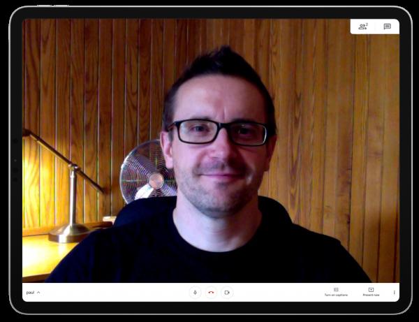A screengrab of Pooka Director Paul Galinsky in a Google Meet conversation